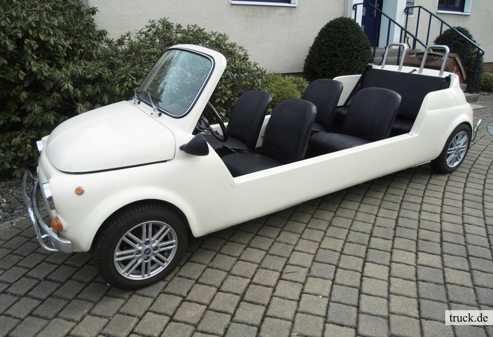 fiat 500 stretch cabriolet b cking concept. Black Bedroom Furniture Sets. Home Design Ideas