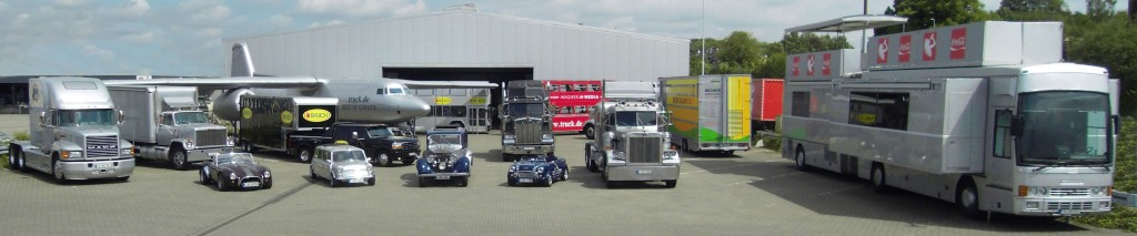 Truck-Fahrzeug-Flotte-Halle